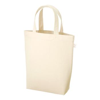 厚手コットンバッグヘビーウェイト(M)マチ付  ナチュラル / トートバッグ 無地 エコロジーバッグ