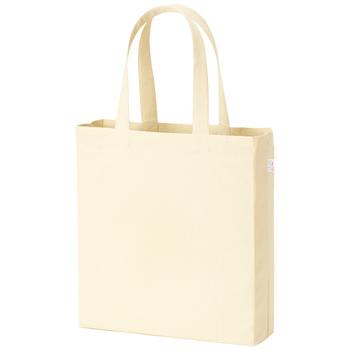 横マチ付厚手コットンバッグ(L)  ナチュラル / トートバッグ 無地 エコロジーバッグ