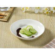 【強化】 薄口カレー皿(7号)   パスタ皿/おうちカフェ/白食器