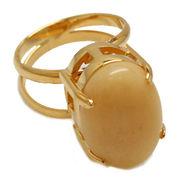 《大きめストーン:フリーサイズ ファッションリング指輪/ファランジリング》 アラゴナイト(Aragonite)
