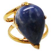 《大きめストーン:フリーサイズ ファッションリング指輪/ファランジリング》 ソーダライト(Sodalite)