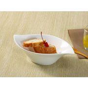 【強化】 10号流線型小鉢   おうちカフェ/鉢/小皿/小付/珍味入/白食器