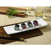【強化】 長皿(11.5号長角プレート)   おうちカフェ/長皿/さんま皿/角皿/白食器
