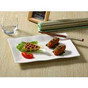 【強化】 長方形プレート   フレンチ用皿/ おうちカフェ/白食器