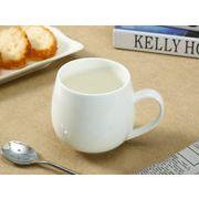【強化】 丸いマグカップ(440ml)   白い/コーヒー/紅茶/ジュース/牛乳/カフェオレ/