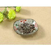 【強化】 5号丸口皿(赤いコスモス)    おうち料亭/和食器/取り皿