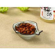 【強化】 魚型小皿(赤いコスモス)    おうち料亭/和食器/小皿
