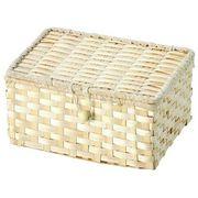 【値下げ】WrappingItems Bamboo 白竹バスケット フタ付き 25-28