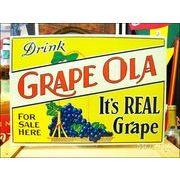アメリカンブリキ看板 グレープドリンク/Grape Ola