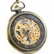 ■懐中時計■  機械式手巻ネックレス時計  A