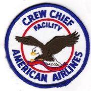 輸入ワッペン アメリカン航空 Crew Chief イーグル