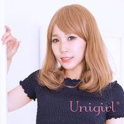 【ユニガール】重めのショルダーカールウィッグ『ミディアムワンカール』