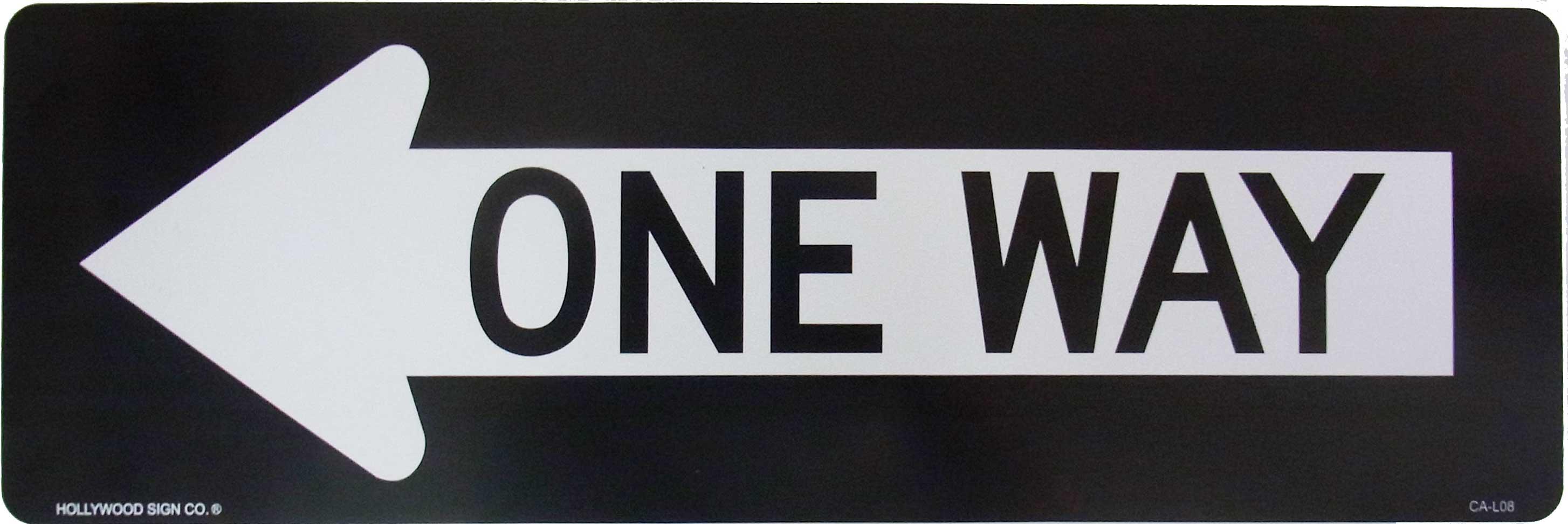 プラスティックサインボード ONE WAY L
