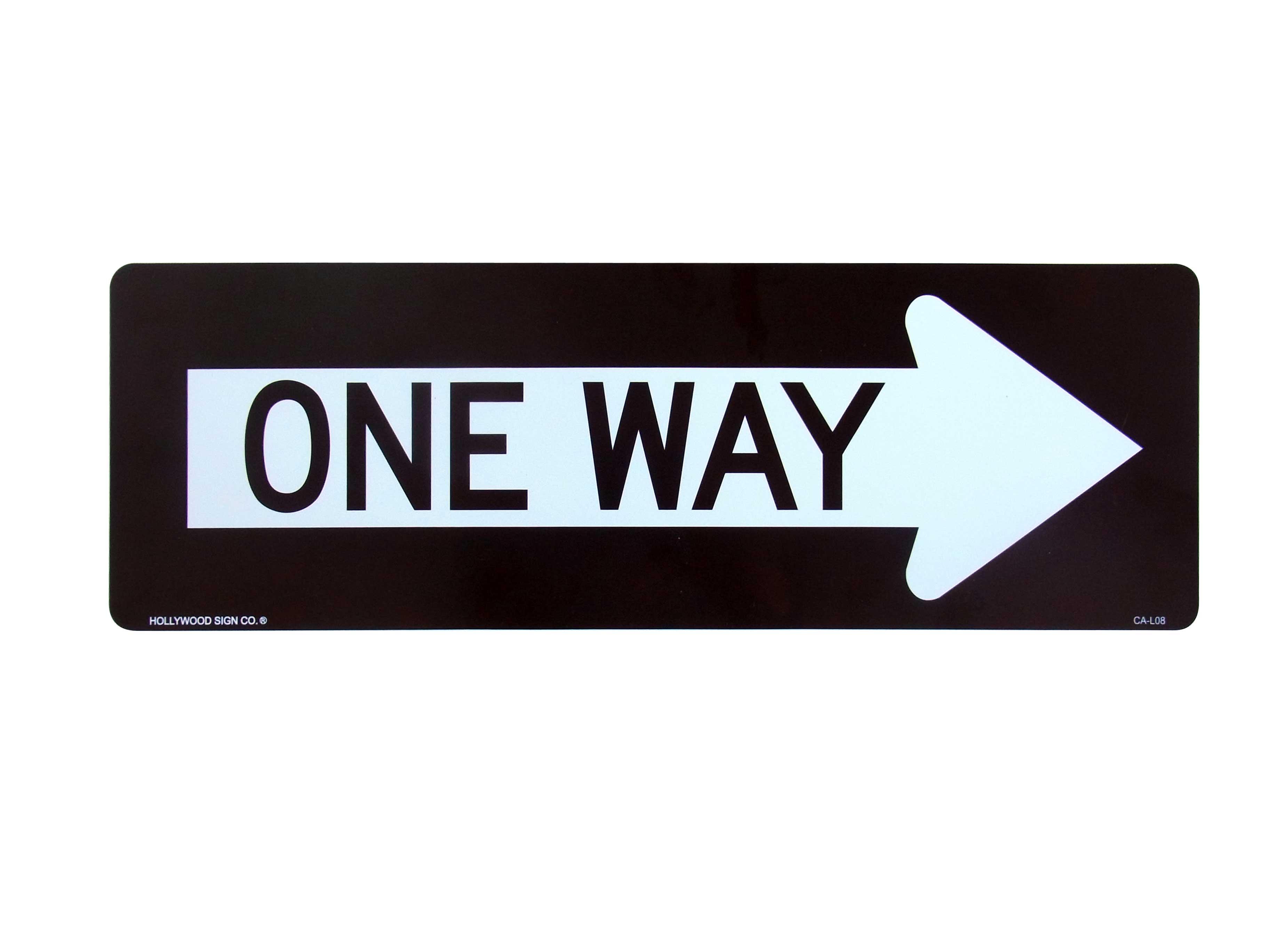 プラスティックサインボード ONE WAY R