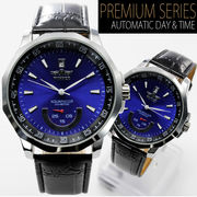 【バックスケルトン仕様】ビッグフェイス自動巻き腕時計【保証書付き】