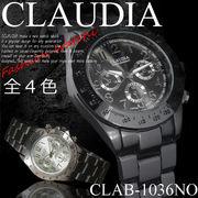 【選べるケース付orなし】◆腕時計 見やすい 数字 ウォッチ メンズ◇CLAB-1036NO