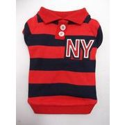 犬の洋服 半袖 Tシャツ ラガーシャツ赤×黒 サイズ S・M・L・XL