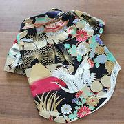 日本製 セレブスタイル 高品質ペットウェア 犬服 赤富士と鶴中型犬用クールシャツ