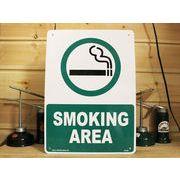 アメリカン雑貨 看板 プラスチックサインボード 喫煙場所 Smoking Area スモーキングエリア CA-24