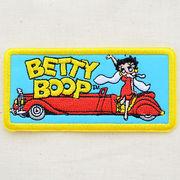 ワッペン/アップリケ ベティブープ Betty Boop(オープンカー) アイロン接着 BBW-010