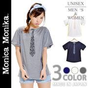 【日本製】 Monica Monika ペイズリー柄 ドット柄 ネクタイ Tシャツ