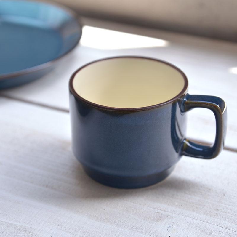 北欧ブルー スタッキングマグカップ[H1255][美濃焼]