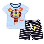 格安!!NEW★子供★幼児★動物★虎★タイガー★ボーダー柄★ショートパンツ★Tシャツ+半ズボン