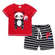 格安!!NEW★子供★幼児★動物★パンダ★ボーダー柄★ショートパンツ★Tシャツ+半ズボン
