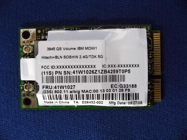 バルク品 intel PCI Express mini Card 無線LANモジュール 466Q-WM3945AG