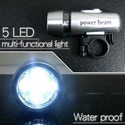 5LED搭載ハンドライト Power beam シルバー