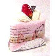 三角ショートケーキ ハンドタオル(香り付き)&ソフトフキン(ストロベリー)【一個単位販売】