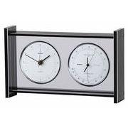 《ギフトにも最適》【日本製高精度センサ搭載】スーパーEXギャラリー温・湿度・時計