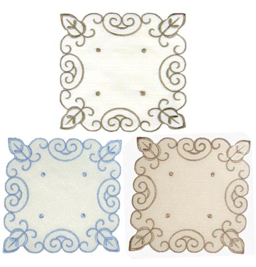 刺繍コースター(角型2P) 124-02