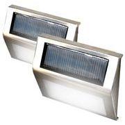 ソーラーパネル搭載 フットLEDライト 2個セット