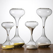 ガラス製 砂式トケイ 金メッキ/銀メッキ 砂時計