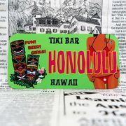 好きな文字にできるアメリカナンバープレート(小・自転車用サイズ)ハワイ・ティキバー