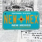 好きな文字にできるアメリカナンバープレート(小・自転車用サイズ)ニューメキシコ