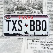好きな文字にできるアメリカナンバープレート(小・自転車用サイズ)テキサス