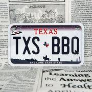 好きな文字にできるアメリカナンバープレート(中・USバイク用サイズ)テキサス