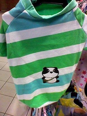 セール☆人気の格安犬服☆ 半そでぱんだTシャツ