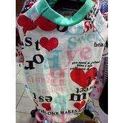 セール☆人気の格安犬服☆ 半そでグリーンハートTシャツ