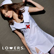 ナース 2点セット A【即納】看護婦 ナースハット ミニワンピ コスプレ コスチューム 衣装 仮装