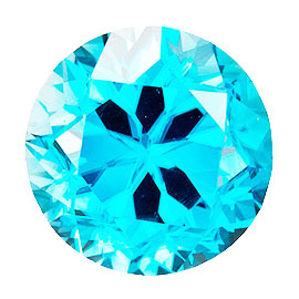 カラーダイヤモンド ブリリアントカット ルース アクアブルー/約1.0-3.3mm
