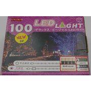 LEDストレート点滅 100球 11m 白 黒線