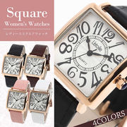 L'etoile スクエアフェイス レディース 腕時計 LD01
