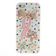 iPhoneSE / iPhone5s iPhone SE iPhone 5s ラインストーンケース ピンクちょう結び