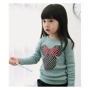 プリント長袖Tシャツ(ミニー) 90cm~130cm 綿95%スパンデックス5%
