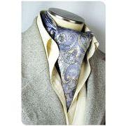 エレガント袋縫いメンズ用100%シルクスカーフ 1009