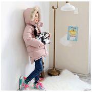 キッズ オーバーコート 女の子ジャケット  綿入れ アウター 防風防寒 暖かい コート 秋冬子供服