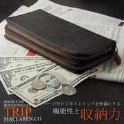 【MACLAREN.co】『TRIP』ダブルジップラウンド 長財布 MC-0610 4色
